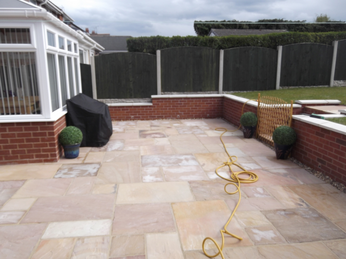 To Get The Effect And Finished Look, A Wall Had To Be Constructed As The  Levels Of The Garden Area Where So High, So Steps Where Also Built To Allow  Excess ...